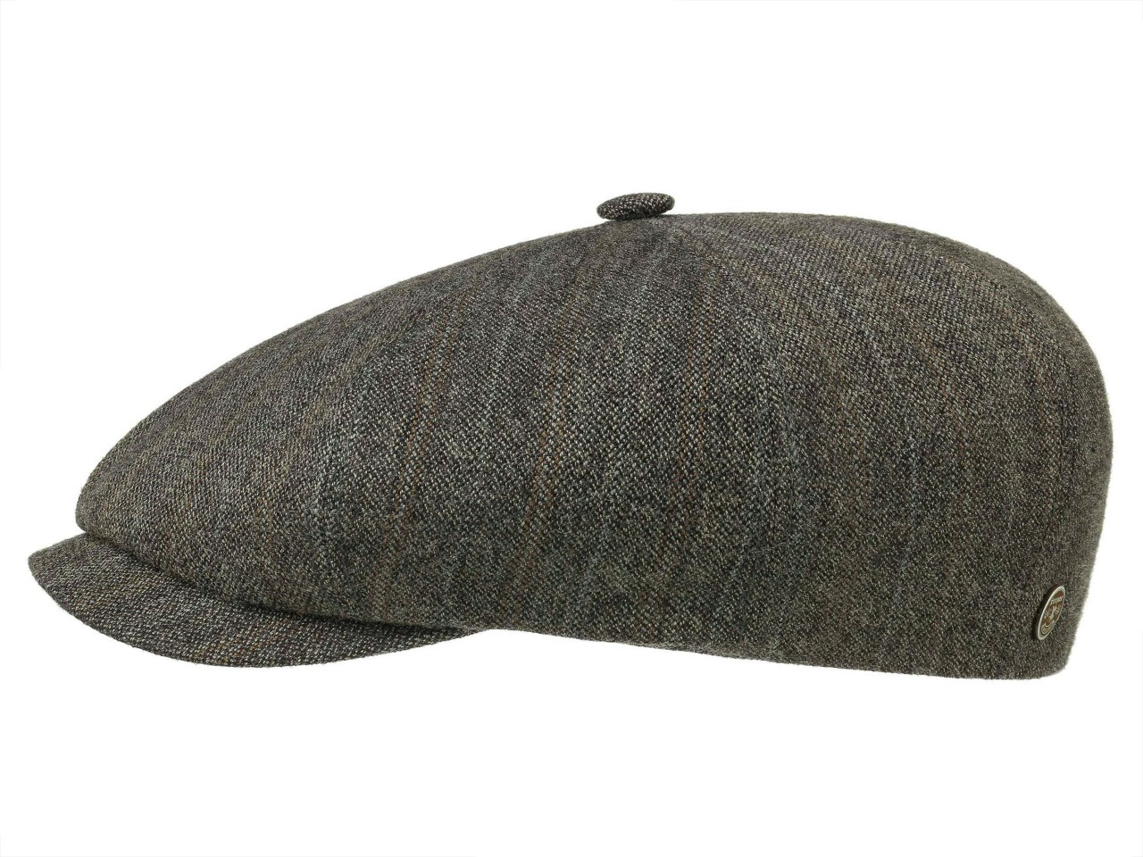Stetson 8-Panel Cap Linen/Wool Stripes 8 Panel Newsboy Flatcap
