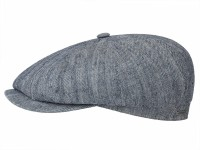 Stetson Hatteras Cotton/Linen 8 Panel Newsboy Flatcap Schirmmütze in Fischgrat-Optik
