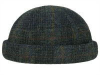 Stetson Docker Harris Tweed Virgin Wool Check Dockermütze