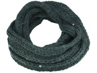 Seeberger Loop Strickschal mit Strass aus Wolle