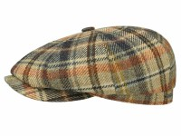 Stetson Hatteras Wool Check 8 Panel Newsboy Flatcap