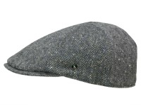 City Sport Donegal Tweed Newsboy Cap aus reiner Schurwolle