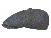 Stetson 6-Panel Cap Harris Tweed 6 Panel Newsboy Flatcap