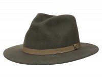 Brixton Messer Packable Fedora Traveller Hut