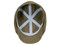 Stetson 6-Panel Cap Silk/Cotton Newboy Flatcap im Fischgrat-Design